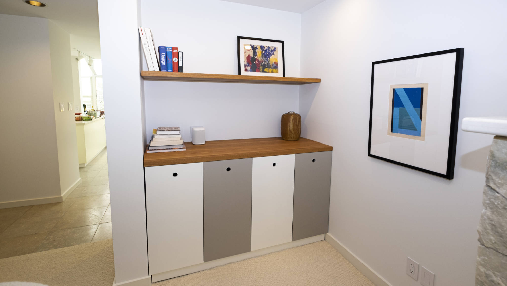 Built in wooden cabinet